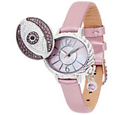 Judith Ripka Stainless Steel Diamonique Evil Eye Watch - J331604