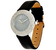 Pave Round Diamond Watch, Stainless Steel 1.80 cttw, by Affinity - J332004