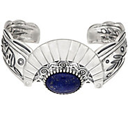 Fritz Casuse Sterling Silver Lapis Harvest Moon Cuff Bracelet - J334004