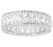Judith Ripka Sterling Baguette Diamonique Eternity Ring - J334204