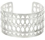 Stella & Dot Silvertone Plait Cuff Bracelet - J346604