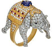 Diamonique Elephant Ring, Sterling - J347104