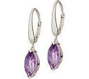 Marquise Gemstone Sterling Silver Drop Earrings 1.80 cttw - J347504
