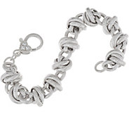 Judith Ripka 6-3/4 Sterling Verona Rolling Link Bracelet 31.4g - J348204