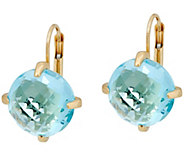 Italian Gold Faceted Gemstone Earrings, 14K - J348904