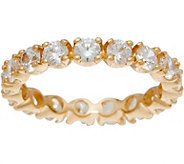 Diamonique 2.00 ct Eternity Band Ring, 14K Gold - J350004