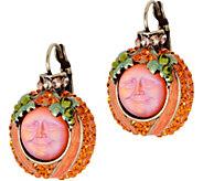 Kirks Folly Evermore Seaview Moon Pumpkin Earrings - J351504
