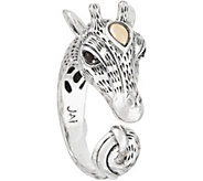 JAI Sterling Silver & 14K Gold Giraffe Ring - J353004