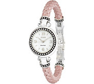 Ecclissi Sterling Silver Braided Leather Watch - J354304