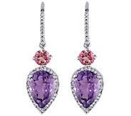 14K 6.20 cttw Gemstone & 1/3 cttw Diamond DropEarrings - J377204