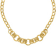 Italian Gold Round & Oval Fancy Link Necklace 14K, 11.6g - J377704