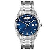 Bulova Mens Classic Blue Dial Dress Watch - J378504