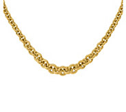 Italian Gold 18 Bold Graduated Cable Link Necklace, 14K - J381904