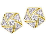 Affinity 14K 1/2 cttw Diamond Cluster Stud Earrings - J383704