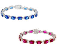 The Elizabeth Taylor Simulated Ruby or Sapphire Tennis Bracelet