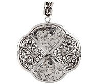 Artisan Crafted Sterling Bold Carved Enhancer - J148005