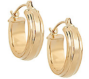 18K Gold Polished Huggie Hoop Earrings - J289805