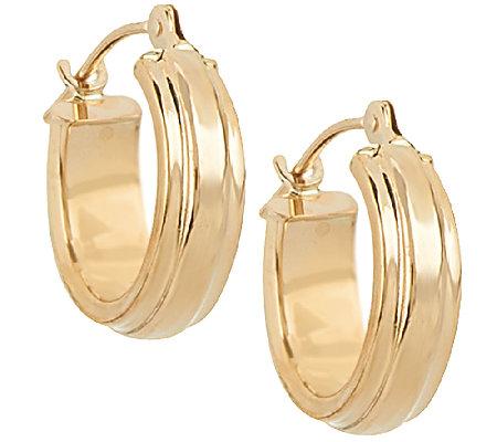 18k gold polished huggie hoop earrings qvc