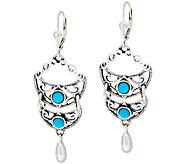 Kenneth Johnson Sleeping Beauty Turquoise Sterling Drop Earrings - J317105