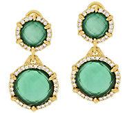 Judith Ripka Eclipse Stering & 14K Clad Green Goddess Earring - J317805