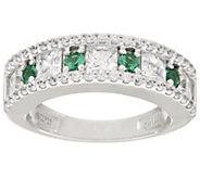 Epiphany Diamonique and Simulated Gemstone Ring - J318605