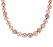 Honora 12.0mm - 14.0mm Ming Cultured Pearl Sterling 18 Necklace - J321405