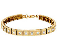 Stainless Steel Polished Crystal Line Bracelet - J323905