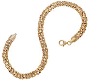 14K Gold 8 Classic Polished Byzantine Bracelet, 4.3g - J324205