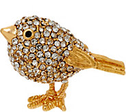 Joan Rivers Pave Chickadee Pin - J327405