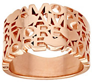 As Is Bronzo Italia Polished Amore_Tapered Band Ring - J327605