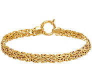 18K Gold 8 Polished Byzantine Bracelet, 6.2g - J328305