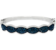 Blue Diamond Small Bangle, Sterling, 1.75 cttw, by Affinity - J331105