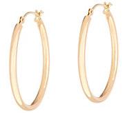 EternaGold 1 Polished Oval Hoop Earrings 14K Gold - J333605