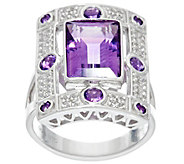 As Is Jane Taylor Emerald Cut Gemstone Sterling Ring 3.45 ct - J333905