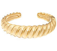 14K Gold Average Polished Bold Sculpted Cuff Bracelet - J334005