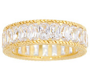 Judith Ripka 14K Clad Baguette Diamonique Eternity Ring - J334205