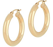 Dieci 1 Polished Round Hoop Earrings, 10K Gold - J334605