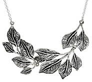 Sterling Silver Multi-Leaf Necklace By Or Paz 28.0g - J335605