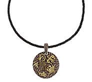 Jody Naranjo Pottery Design Sterling/Brass Pendant w/Cord - J336505