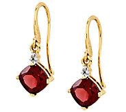 Choice of Gemstone Cushion-Cut Dangle Earrings,14K Gold - J336705