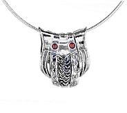 Regina Lane Sterling Owl Necklace e - J336905