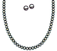Honora Sterling Cultured Pearl Stud Earrings &Necklace Set - J338505