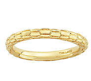 Simply Stacks Sterling 18K Gold Plated TexturedRing - J338905