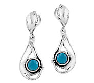 Hagit Sterling Silver & Larimar Drop Earrings - J339705