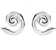 Hagit Sterling Silver Swirl Stud Earrings - J340705