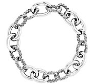 Sterling Polished and Textured 8 Bracelet - J341105