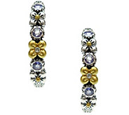 Barbara Bixby Sterling & 18K Floral Hoop Gemstone Earrings - J341905