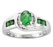 14K Oval Semi-Precious Gemstone & Diamond Accent Ring - J343505