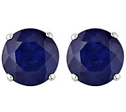 1.20 cttw Sapphire Stud Earrings, 14K White Gold - J344005