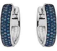 Blue Diamond Earrings, Sterling, 1/2 cttw, by Affinity - J344105